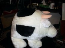 LARGE ADORABLE FAUX SOFT PLUSH STUFFED COW PMS PATAMATES EXCELLENT + TAG 12""